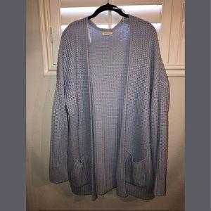 Forever 21 light blue over sized knitted cardigan